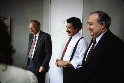 Bill's 51st.  Early 1987.  Center: John Vargas-Vila, right: Tom Duddy of Corstar.