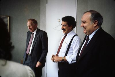 Bill's 51st.  Early 1987.  Center: John Vargas-Vila, right: Tom Duddy of Corstar.