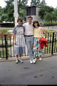 Left: Sharon McMahon, Blake Netherwood, Kathleen Feeney in Battery Park.  June 1986.
