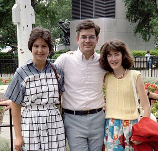Sharon McMahon, Blake Netherwood, Kathleen Feeney.  June 1986.