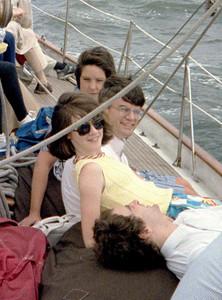 Einar is enjoying himself.  June 1986.