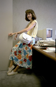 Kathleen Feeney in the Ambac offices.  June 1986.