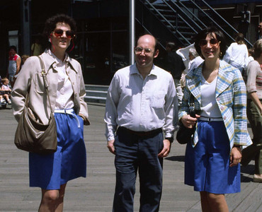 Pier 17, NY harbor cruise -- with Barbara, Annie, and Mark. <small>June, 1986</small>
