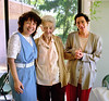 L-R: Loretta, Edith, unknown.