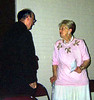 Edith and Fr. John Sullivan, O.C.D., S.T.D., Chairman of the Institute of Carmelite Studies.  Fr. John attended Bishop Loughlin Memorial High School in Brooklyn contemporaneously with me.