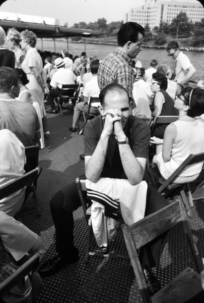 Ken Herschel, Math 1964,  on the Circle Line.