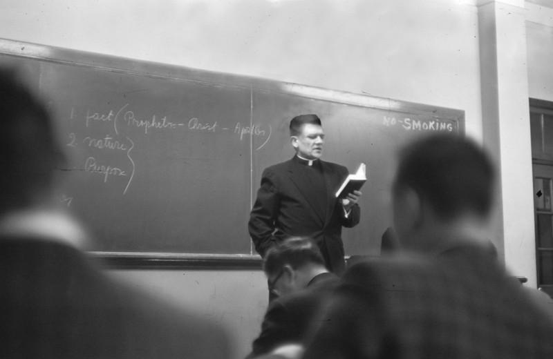 Same room -- Fr. Sabas Kilian taught us theology that semester.