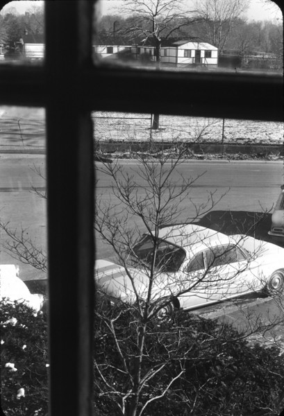 View of the post-WWII barracks from the room shown in the previous photo.