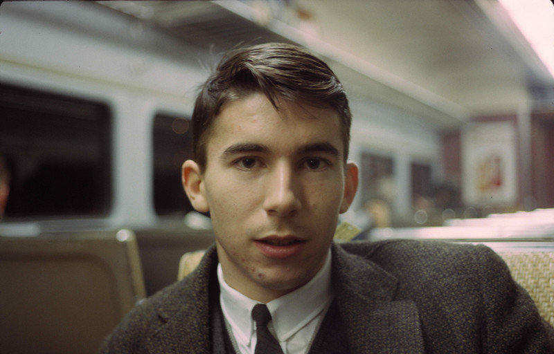 Bruce Gerken, Physics 1964, on the night train.