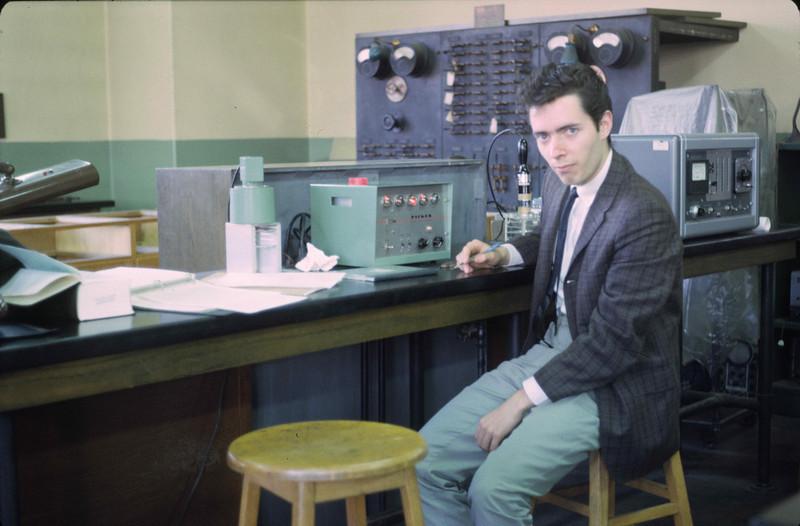 Patrick Cullinan, Physics 1964, in nuke lab.