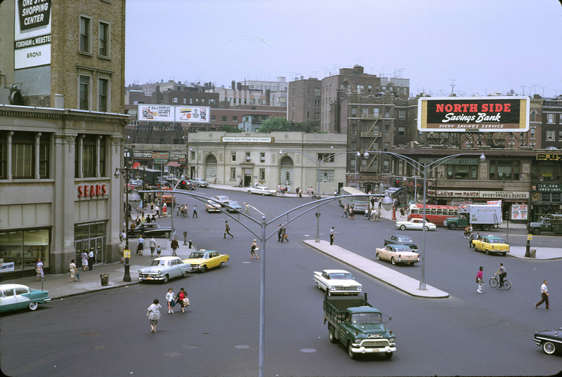Fordham Road, seen from the said station.