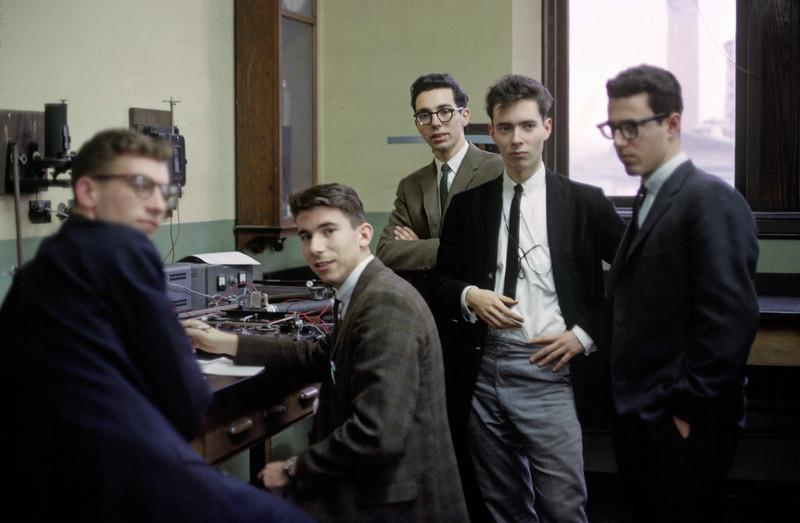Left to right -- Terry Call, Bruce Gerken, Joe Hennessey, me, Al Grippo.