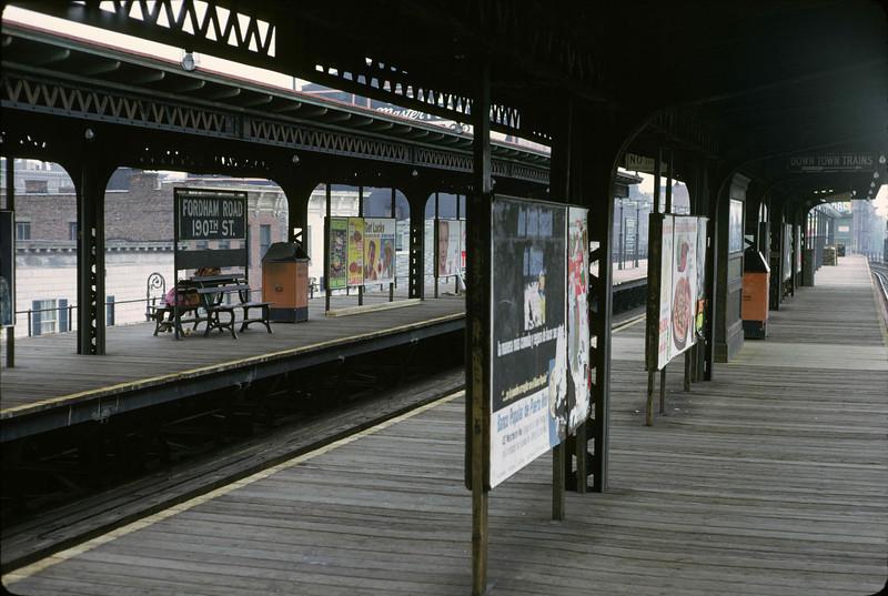 The Fordham station of the Third Avenue El.