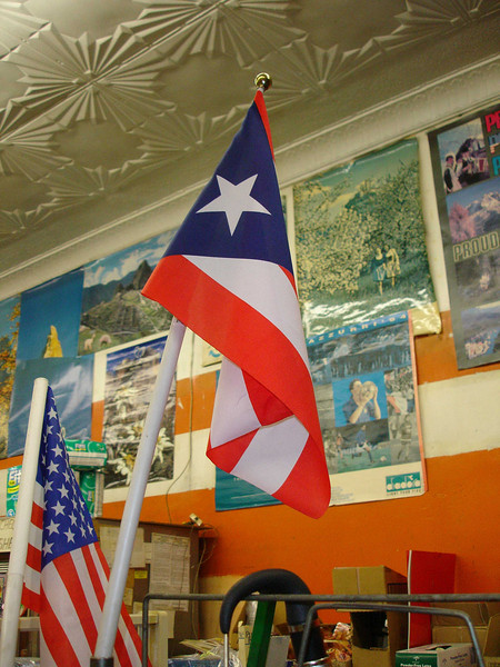 Dec. 26.  The flag of the great island of Puerto Rico.
