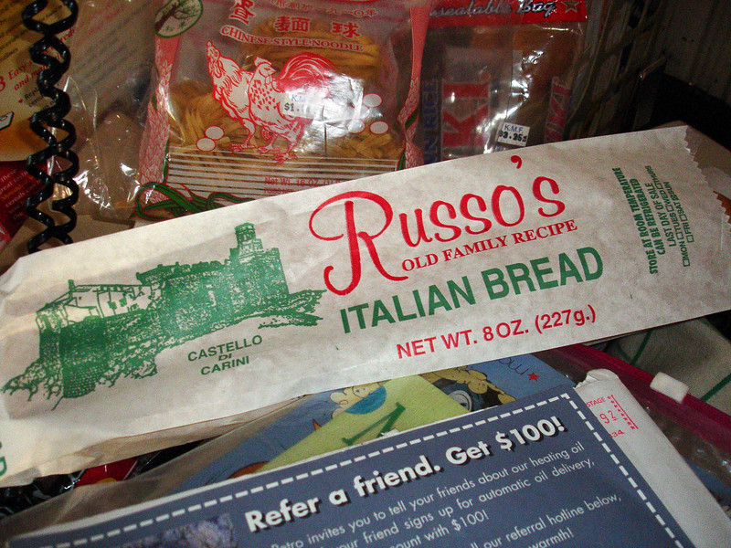 Dec. 27. The last loaf of Italian bread I ever bought at Ronnie & Paul's.