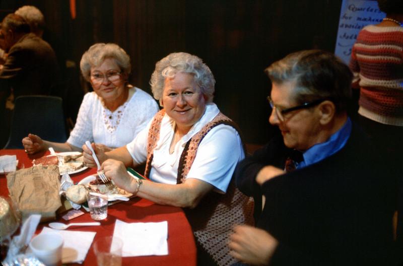 Marjorie Lackner, center.