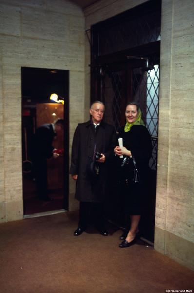 Bill Flecker and Mrs. Rita Cullinan.  March, 1972.
