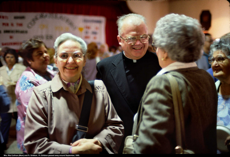 Mom and Fr. Gribbon.