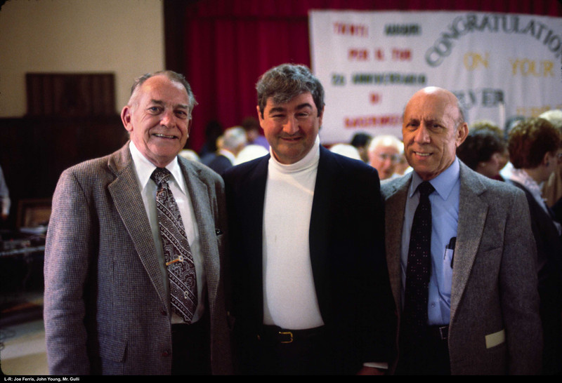 L-R: The late Joe Ferris, John Young, Mr. Gulli.