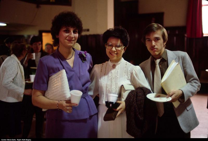 Center: Maria Gallo. Right: Keith Begley.
