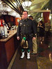 Msgr. Kelly brought a piper, who piped him into the dining room at the beginning of the festivities.