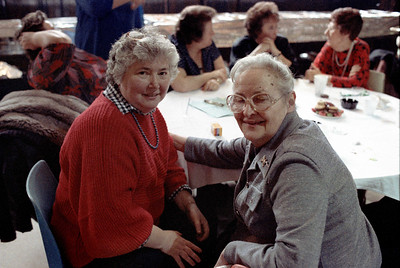 Parish workers' dinner in the auditorium, Jan. 29, 1989.