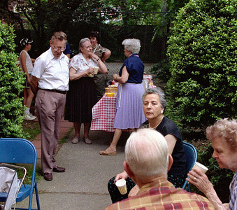 Picnic in the rectory garden, July 12, 1988.