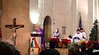 Msgr. Kelly at the pulpit.