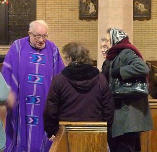 St Brigid's 5 PM Mass, Dec 18. 2010