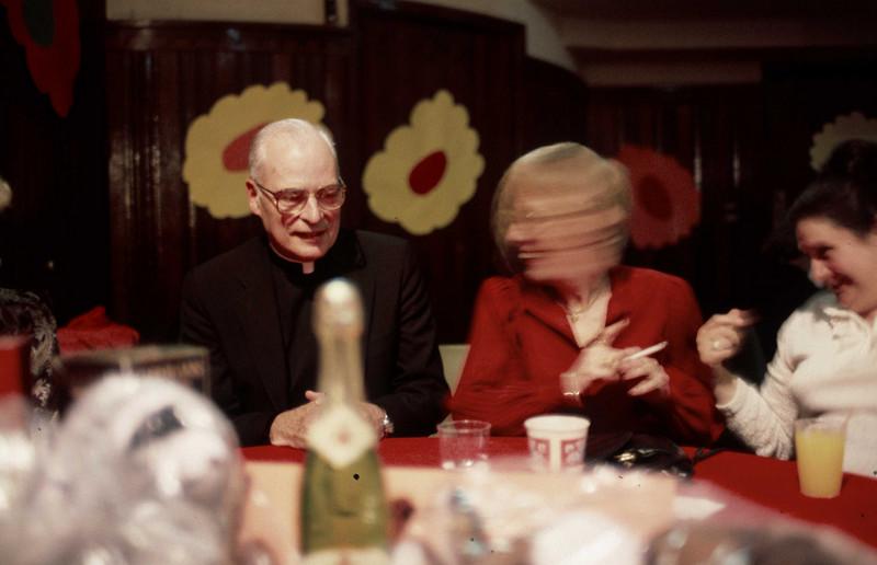 Fr. Bleilevens and Irene Henry.