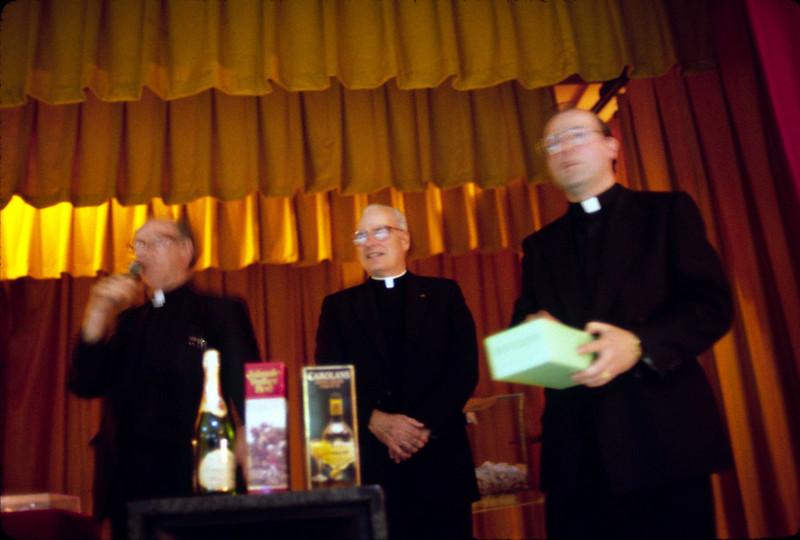 L-R: Fr. James Kelly, Fr. Bleilevens, Fr. Keaney.