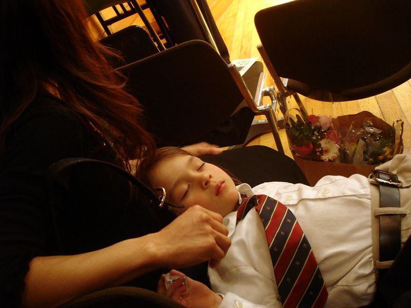 Julian zonked after playing at Christmas Day concert