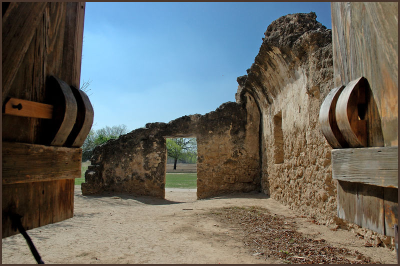 view out from mission concepcion