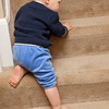 Balin racing his cousin, Miread, down the stairs.