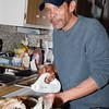 Kimo carving the turkey.  He is an expert at this and should write a book on the proper way to carve a turkey.