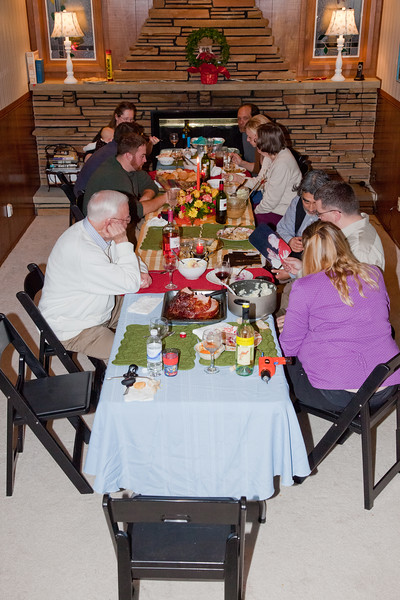 Conversation and leftovers following a wonderful Thanksgiving feast.