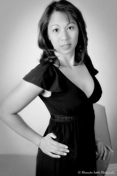Jennifer - Black Dress B&W-1