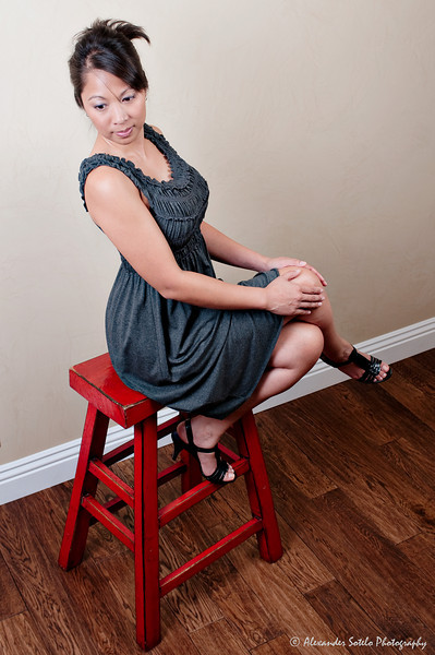 Jennifer - Red Stool-8
