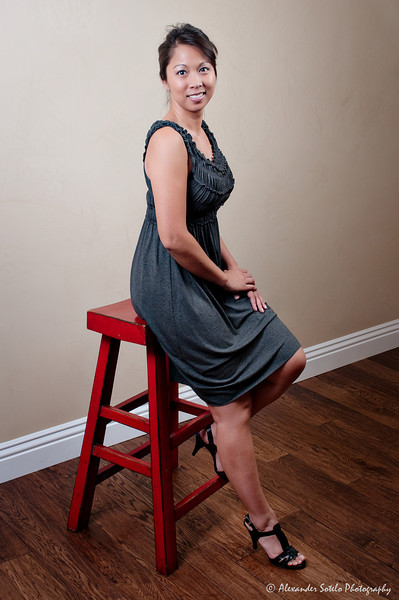 Jennifer - Red Stool-6