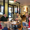 "Natalie, Rich, Greg, Jaep, Stephanie in "" It's a Grind Coffee"" in East Windsor, CT."