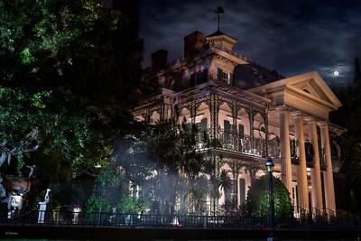 DLR - DL - Haunted Mansion - Night Beauty Shot