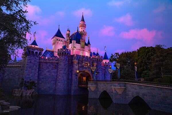 DLR - DL - Sleeping Beauty Castle - Dusk Beauty Shot - v2