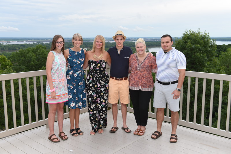 (Bill's) Elizabeth & Jeff Gramza Family w/ Grace, Lily, Liz, George, Molly & Chris.
