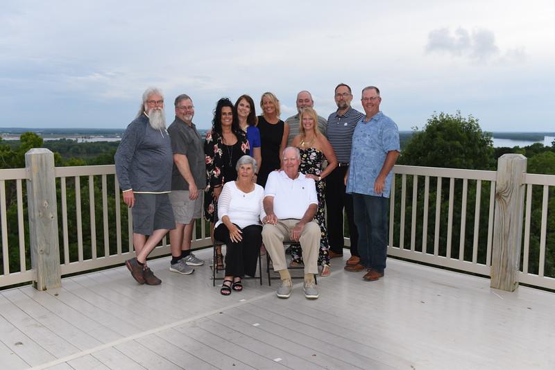 Bill & Jan Lorton Family w/ Bruce, Gregg, Michele(David), MaryJane, Karen, Ken, Liz, Kevin, & Dave.