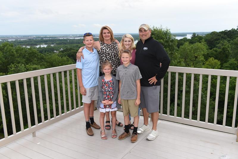 (Jeff's) Danielle & Jason Goebel Family w/ Harris, ______, & Hudson. Also, (Jeff's) JD Lorton w/ Sophie