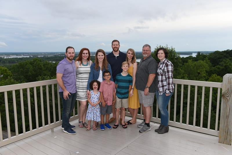 (Jan's) Gregg Norton Family w/ Mike & Rachel, Sarah w/ Maycee & Drayden, Jeff & Tessa w/ Graham, Gregg, & Halley