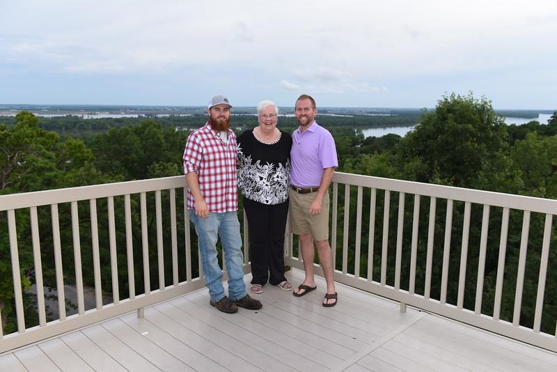 Aunt Linda (Jan's sister) w/ her two favorite dates Mike & Matt.