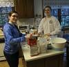 Katie's making brownies, Emily Andes creme de menthe cookies.