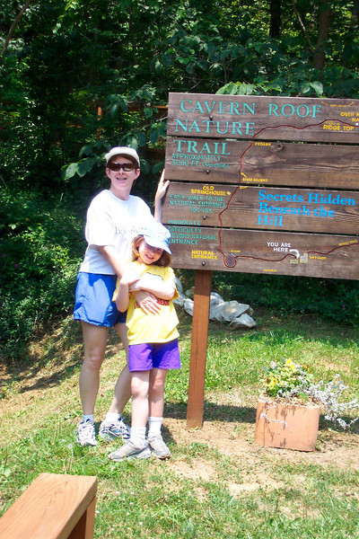Next stop: Marengo Cave.  We being by walking a short nature trail.