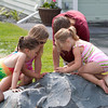 Reagan, Riley, Ryan and Ave playing with the worm!